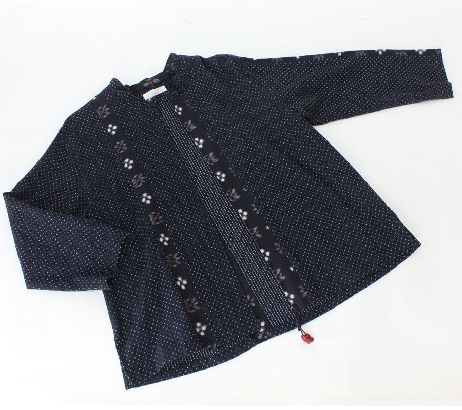 彩藍 久留米絣綿 ジャケット