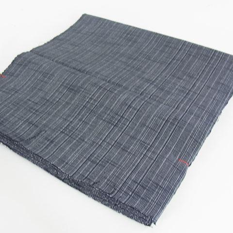 会津もめん グレー黒細縞柄 着尺 綿布地 和服地 洋服地 MT60056 スミヒコ商店|和の洋服・絣のリメイク品・和小物・和のインテリア・着物。きもの仕立ても承ります。|商品詳細