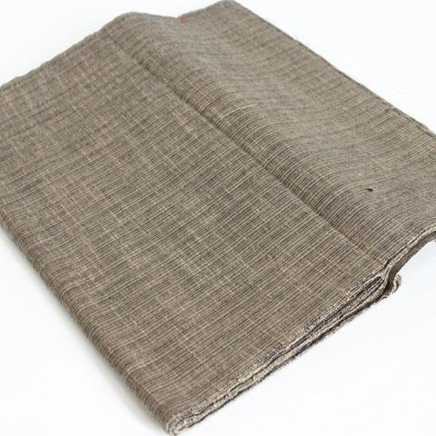 会津もめん 茶 縦縞柄 着尺 綿布地 和服地 洋服地 MT60062 スミヒコ商店|和の洋服・絣のリメイク品・和小物・和のインテリア・着物。きもの仕立ても承ります。|商品詳細