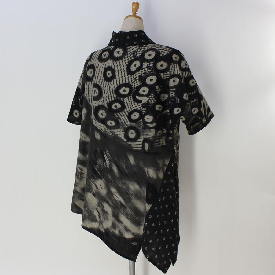 手づくり絣衣 和プリント綿 プルオーバー