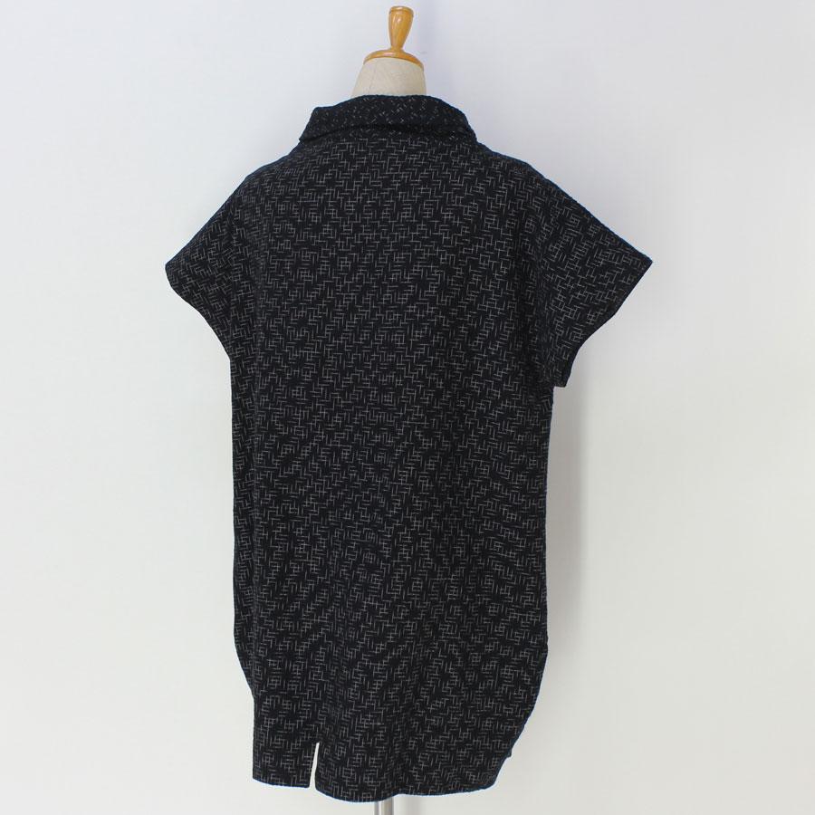 手づくり絣衣 しじら織り絣木綿 プルオーバー