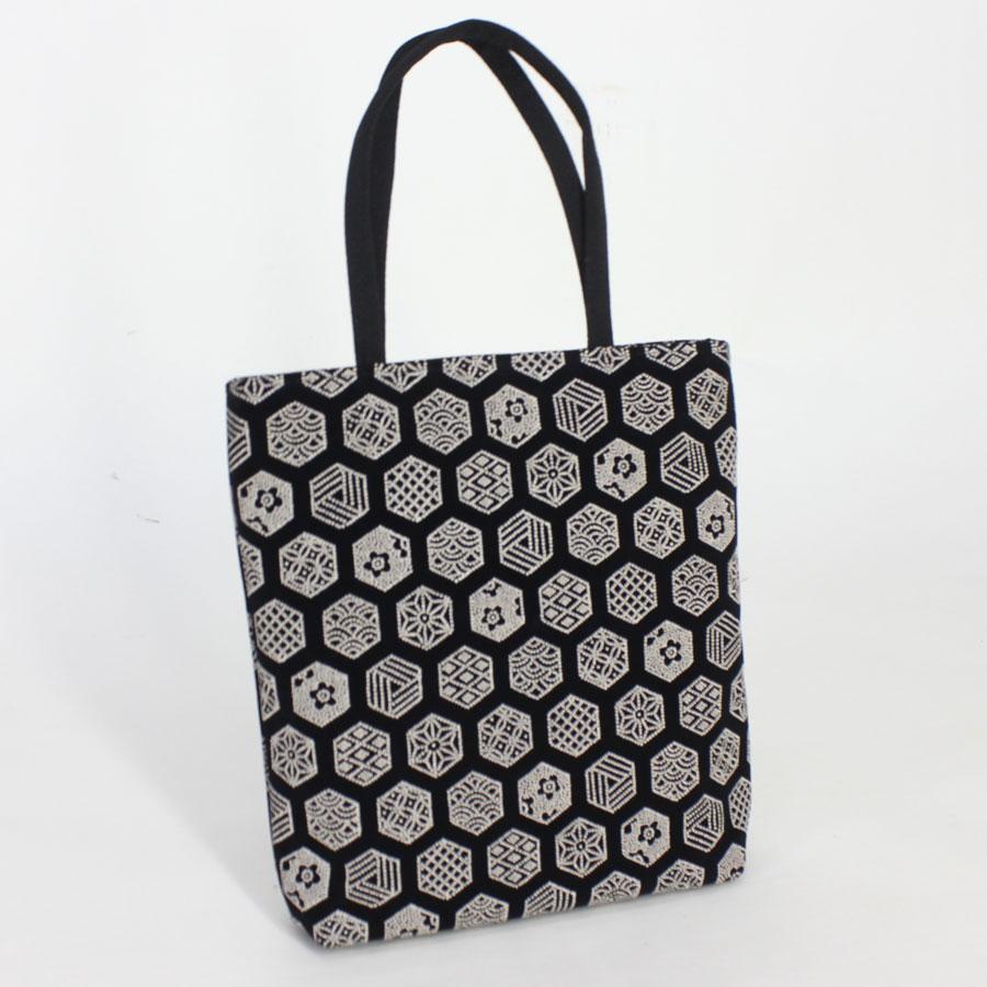 粋な印伝調手提げバッグ