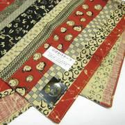 【和雑貨】シャンタンチーフ◆時代小紋柄◆小ふろしき◆綿◆赤・青 chief1020