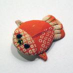 正絹古布金魚のブローチ