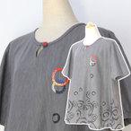 絣衣 墨染め和木綿プルオーバー