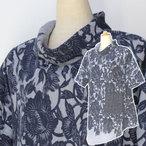 手づくり絣衣 麻混和木綿 プルオーバー