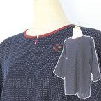 彩藍 久留米織り綿 プルオーバー