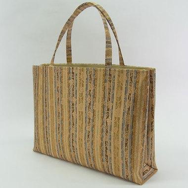 金襴縞布 和装手提げバッグ